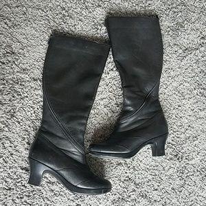 Dansko Black Leather Boot w spiral zipper size 37